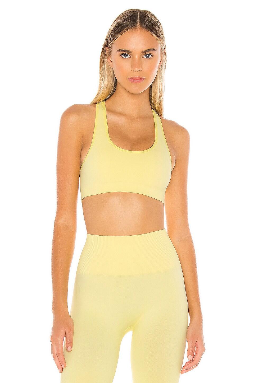 Morgan Stewart Sport Pastel Sports Bra in Yellow