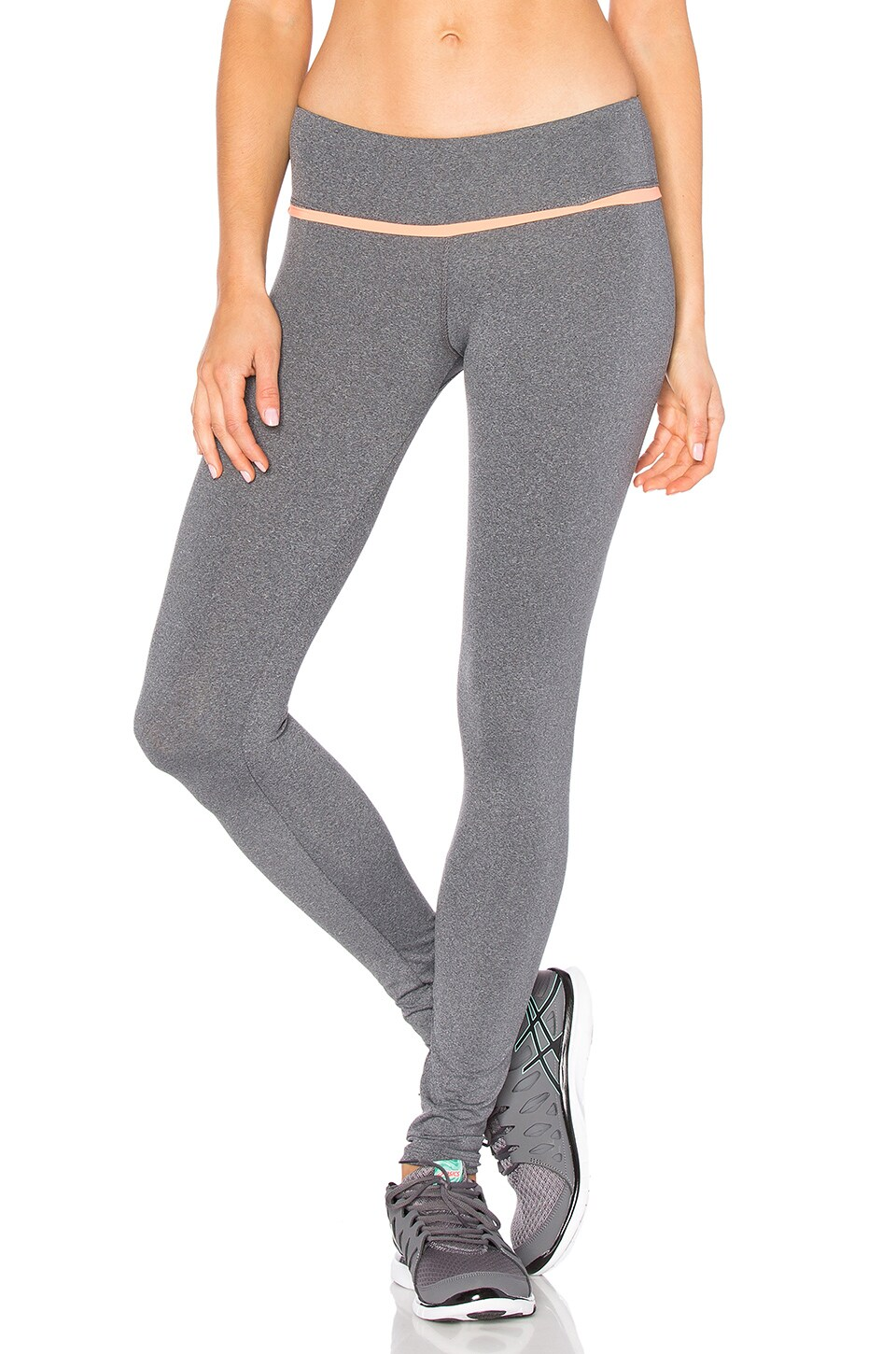 Touche LA TOUCHE x MORGAN STEWART Caspian Legging in Heather Charcoal & Electric