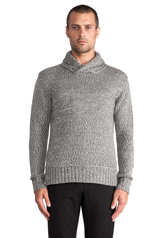 TOVAR Hempel Shawl Collar Pullover in Grey Melange