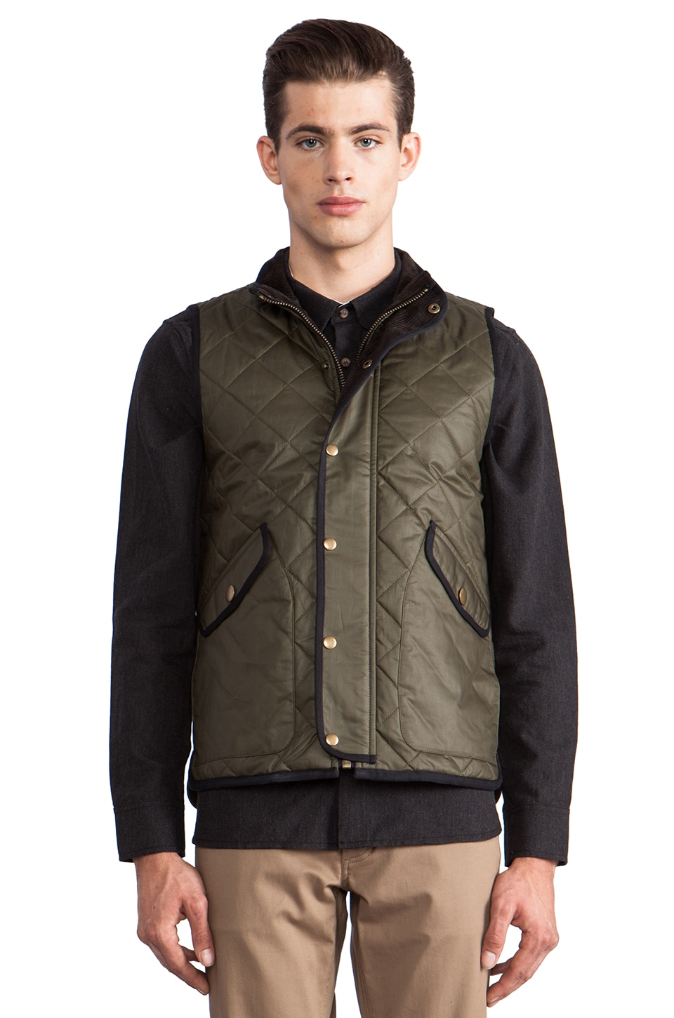 TOVAR Andrew Quilted Vest in Army