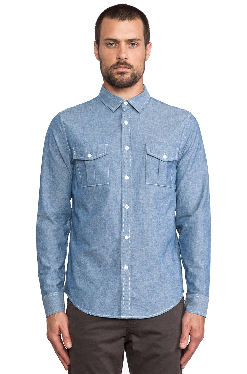TOVAR Brody Shirt in Chambray