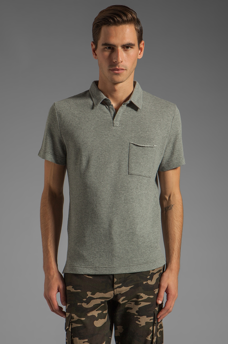 TOVAR Ede Tee in Heather Grey