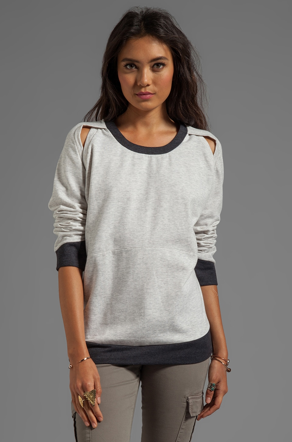 TOWNSEN Harlow Pullover in Heather Grey