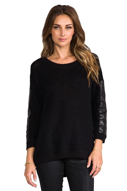 TOWNSEN Heathrow Pullover Sweater in White/Black