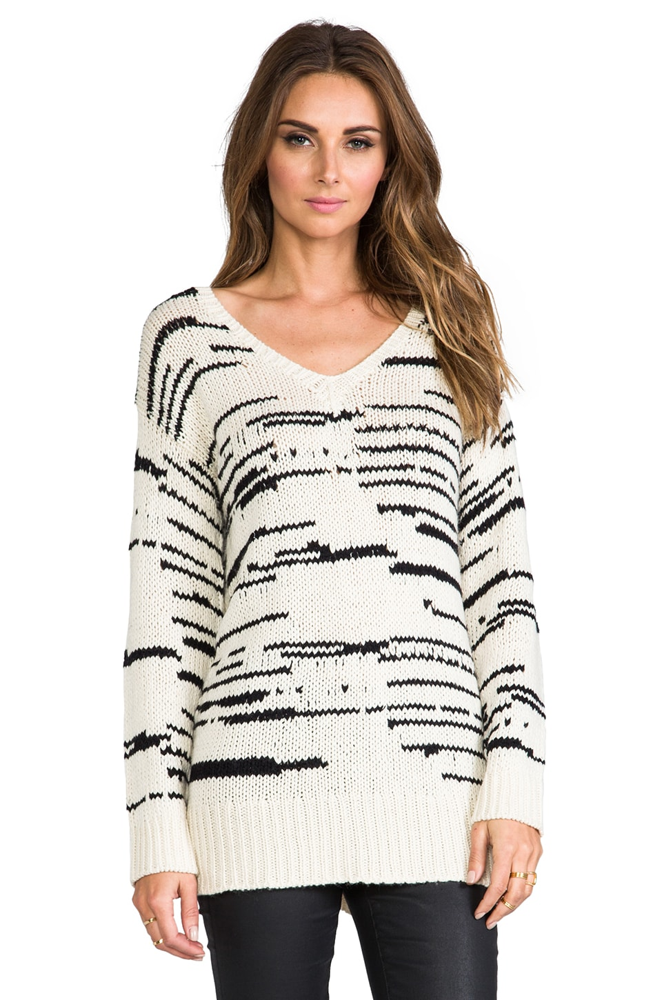 TOWNSEN Misty Sweater in Cream/Black