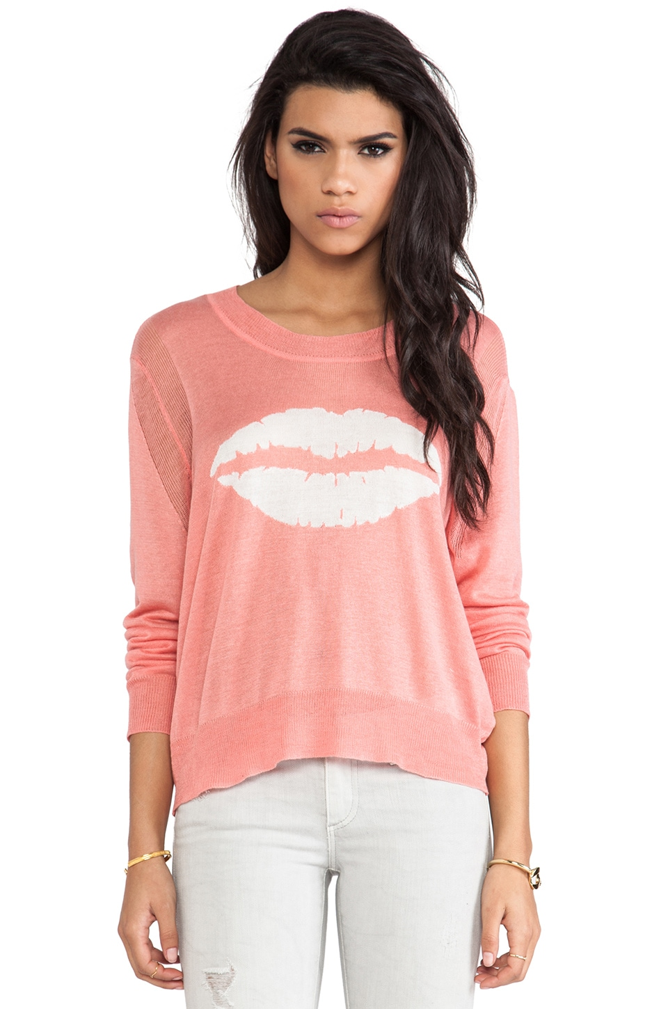 TOWNSEN Lips Sweater in Tulip