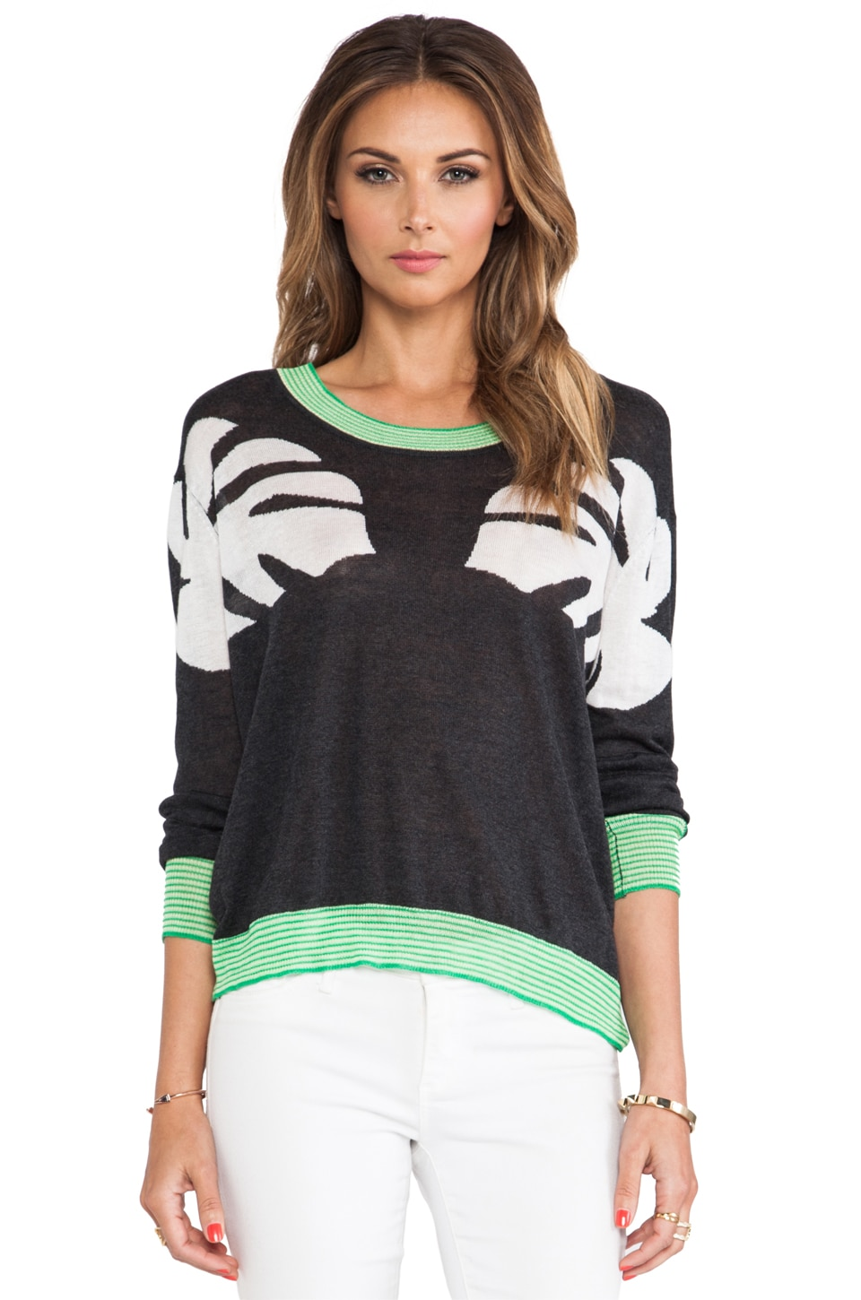 TOWNSEN Twin Palm Sweater in Black