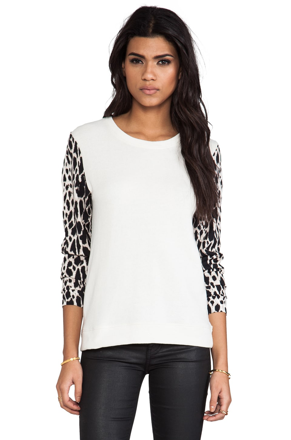 TOWNSEN Animal Pullover in Cream/Natural Leopard