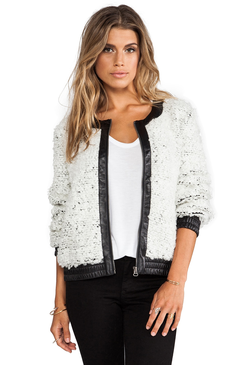 TOWNSEN Pom Pom Jacket in Cream