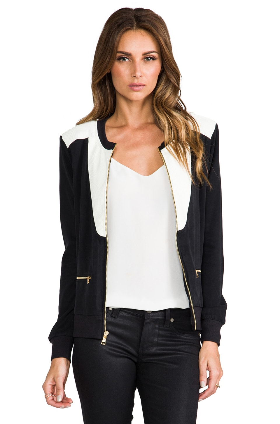 TOWNSEN Carmen Jacket in Black/White