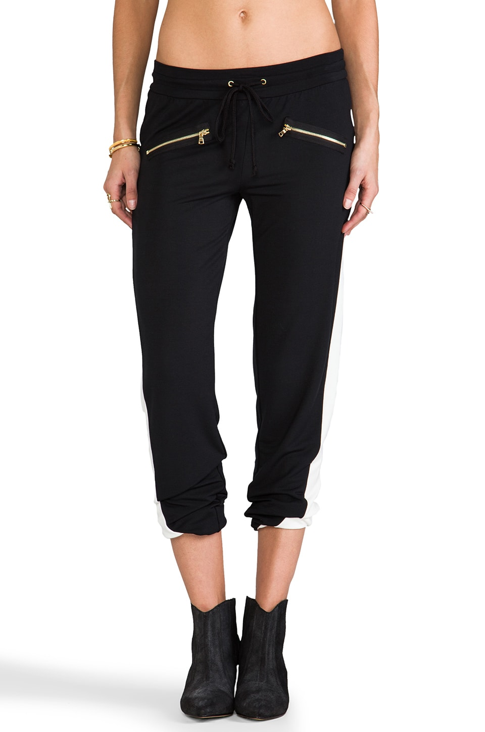 TOWNSEN Swift Fleece Pants in Black & White