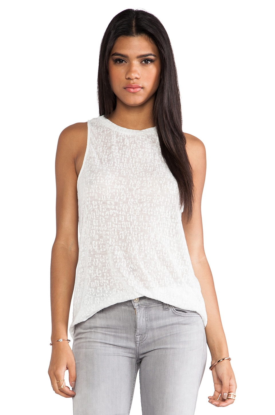 TOWNSEN Geo Burnout Tunic in White