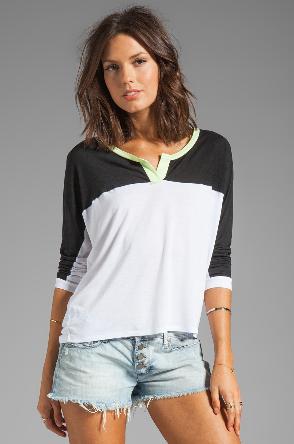 TOWNSEN Colorblock Dolman in Black/White