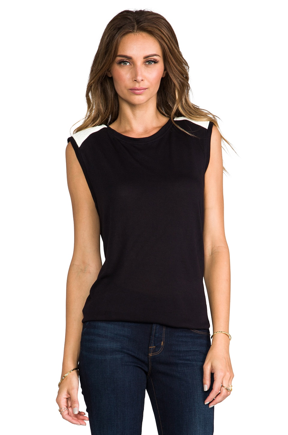 TOWNSEN Carmen Tank in Black/White