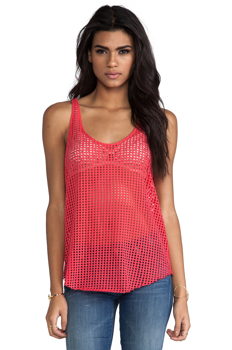 TOWNSEN Squares Tank in Guava