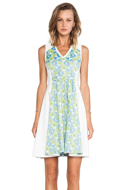 Tracy Reese Floral Jacquard Neoprene Frock Dress in Multi