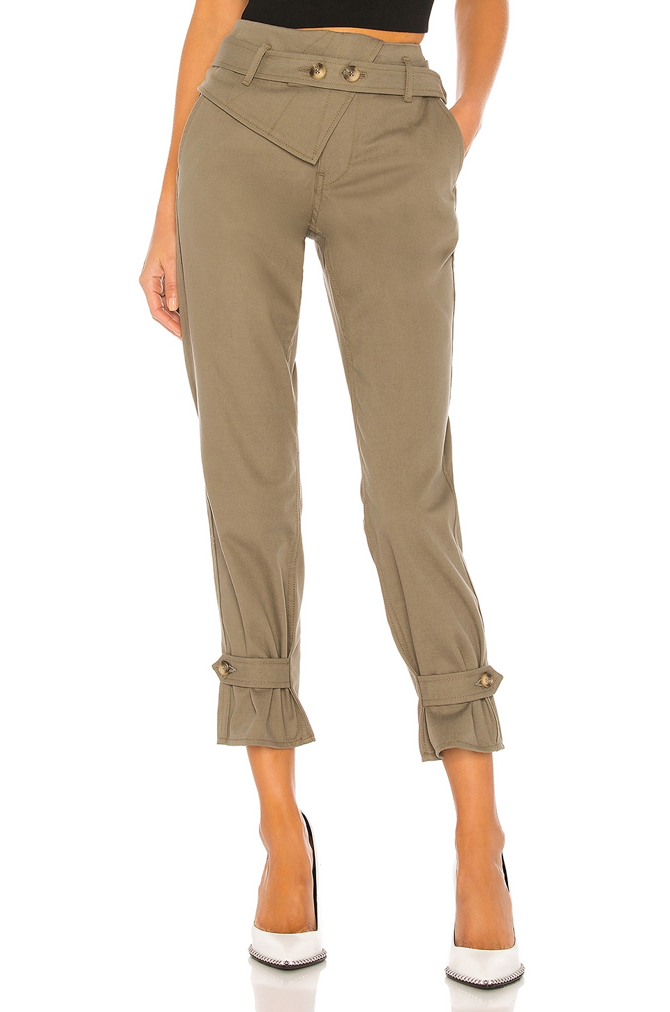 TRAVE Kennedy Pant in Green Fields