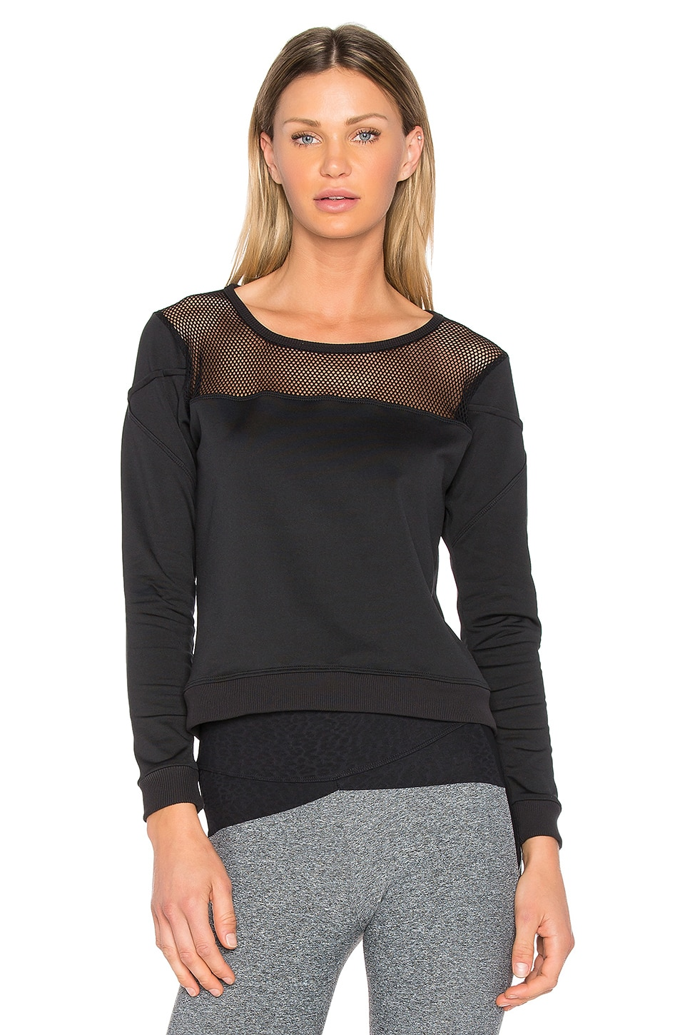 Mesh Panel Sweatshirt by Track & Bliss