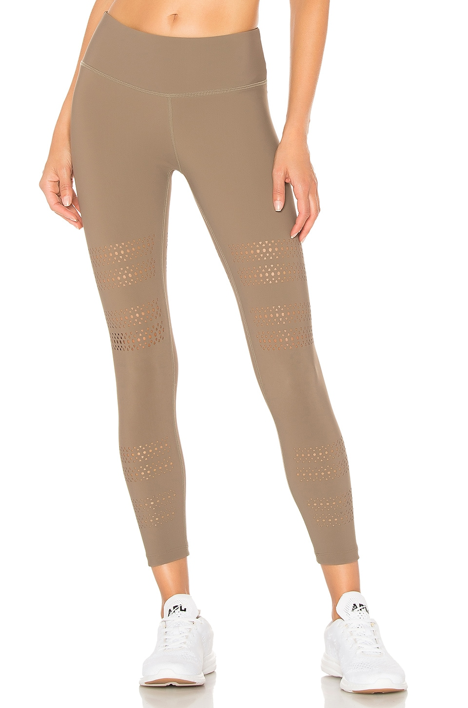Track & Bliss Go With The Flow Leggings in Beige