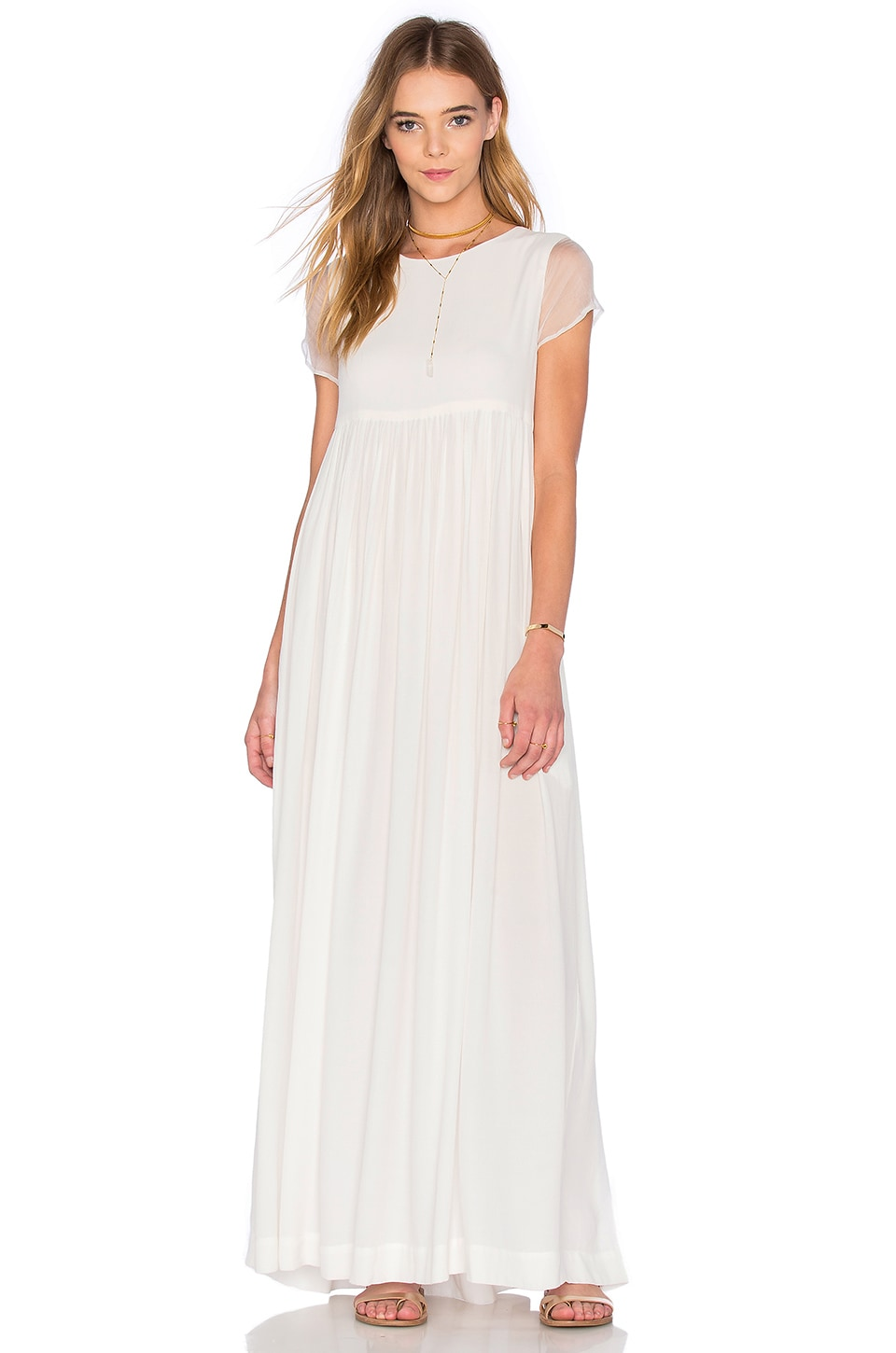 TROIS Paulina Dress in White