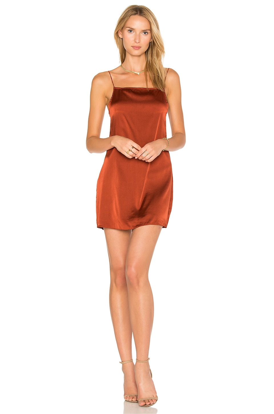 buy Claudia Silk Slip Dress by TROIS dresses online shopping
