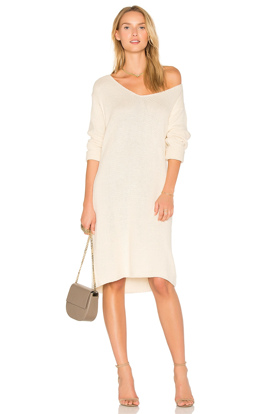 TROIS Daria Knit Dress in Bone