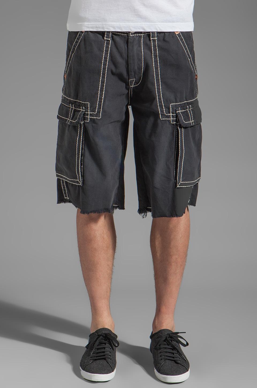 True Religion Issac Big T Cargo Shorts in Navy