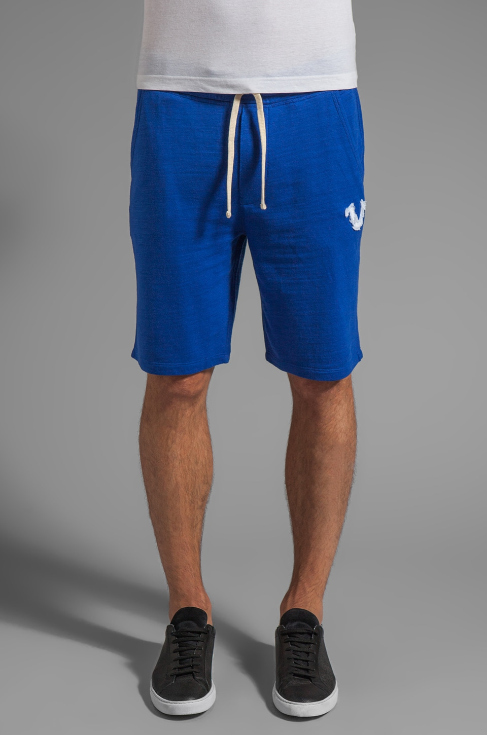 True Religion Echo Park Jog Short in Royal Blue