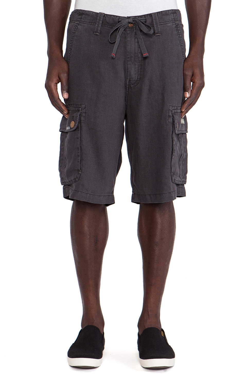 True Religion Recon Short in Washed Black