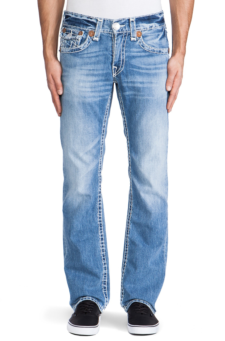 True Religion Ricky Super T in Med Drifter