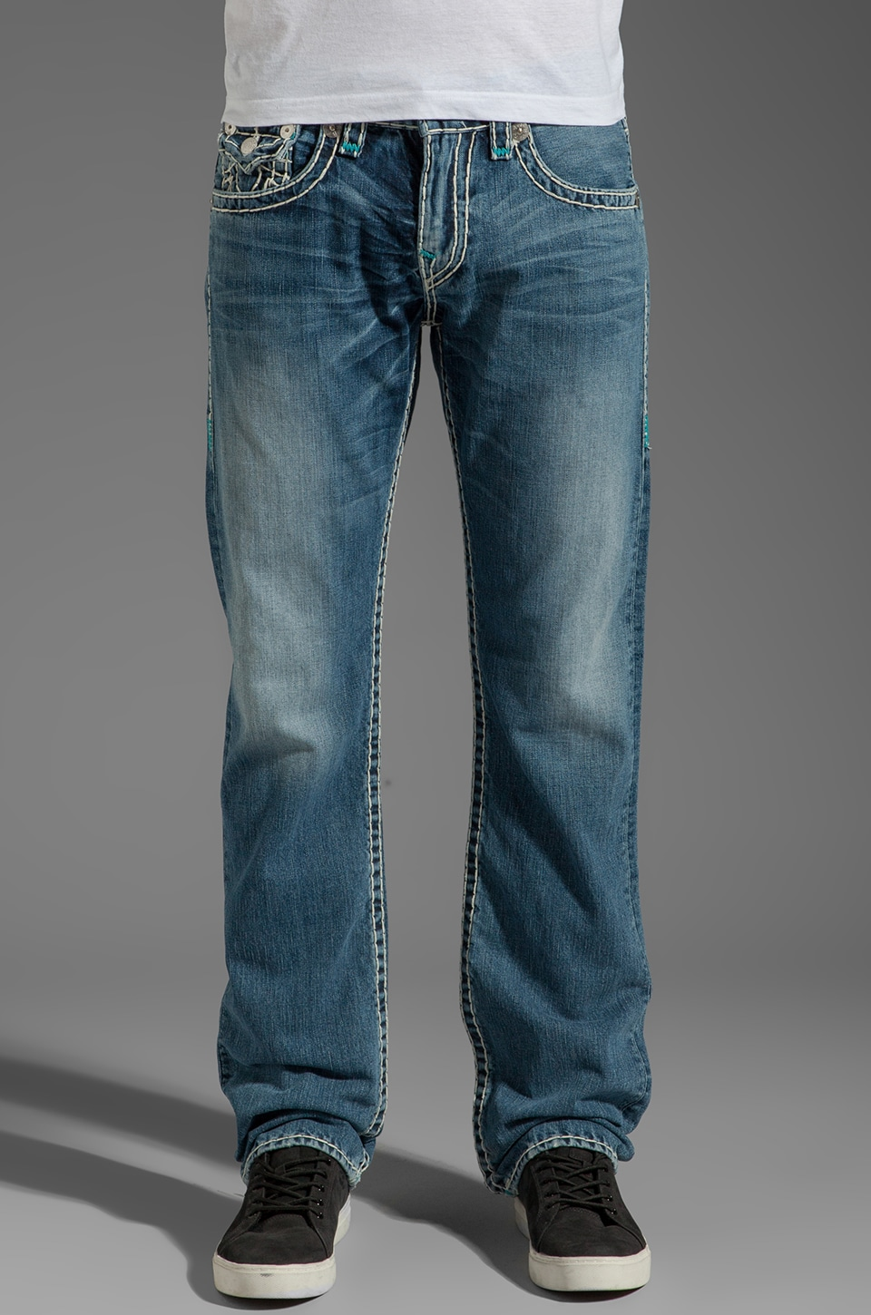 True Religion Ricky Straight Leg in Shade Horizons