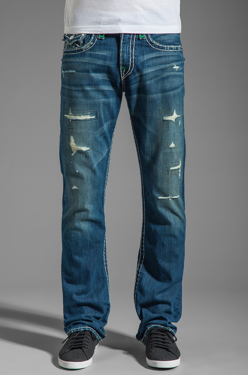 True Religion Ricky Straight Leg in Shoot Out