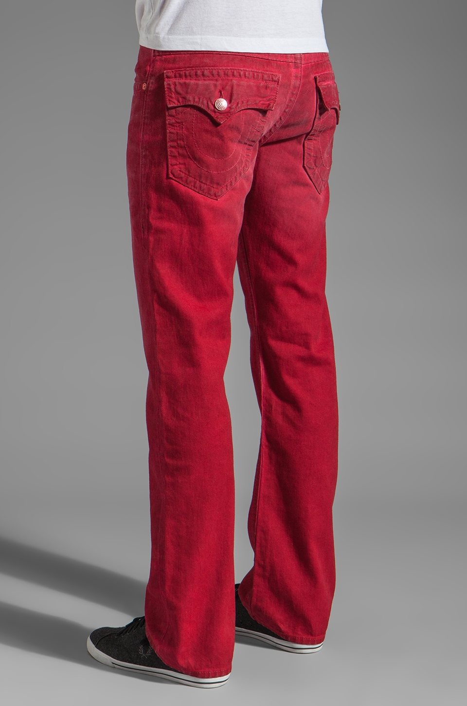 True Religion Ricky Straight Leg in Red