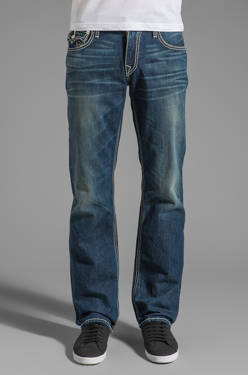 True Religion Ricky General Lee Straight Leg in Monarch