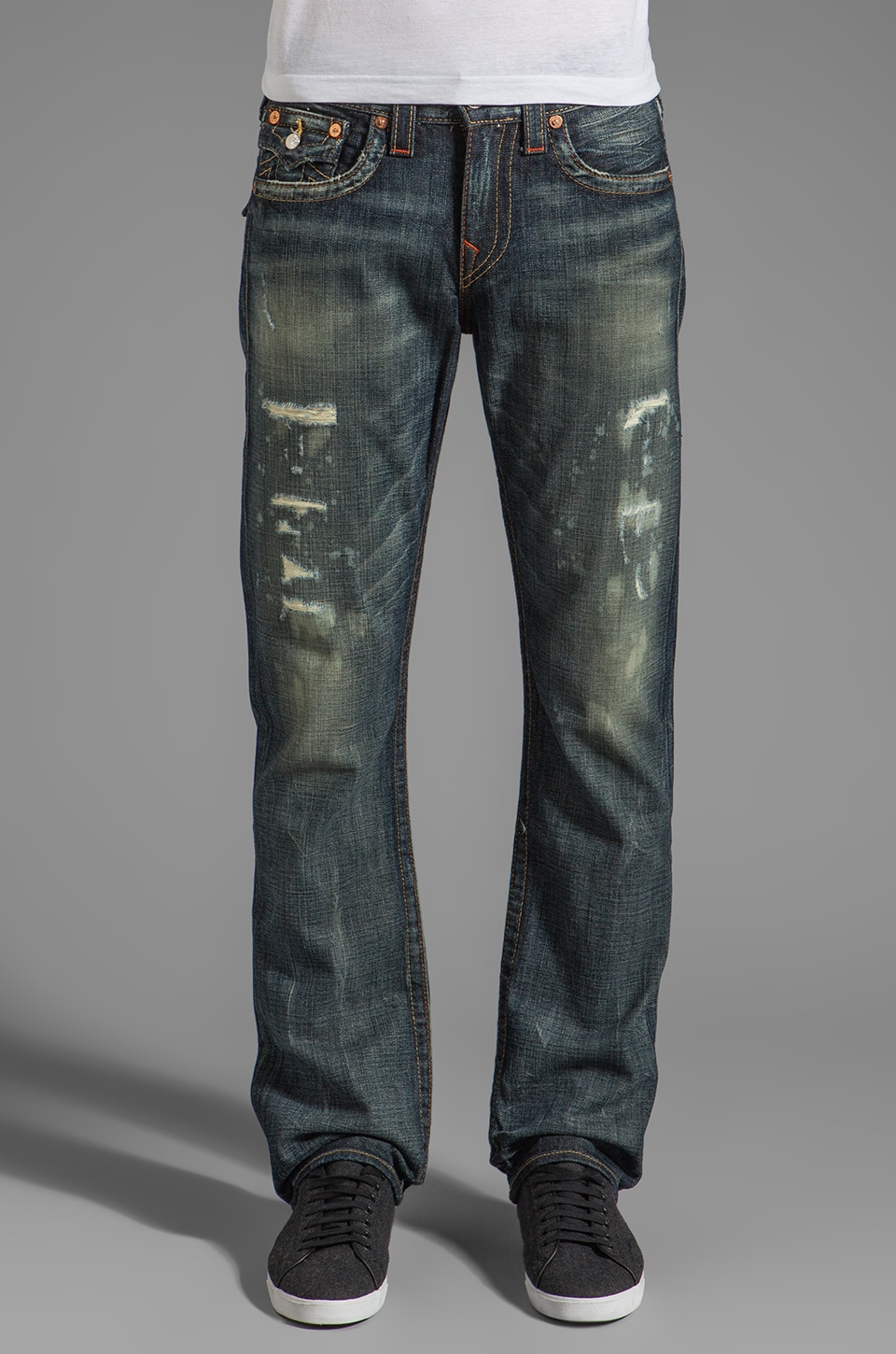 True Religion Jean Ricky Droit en Granite