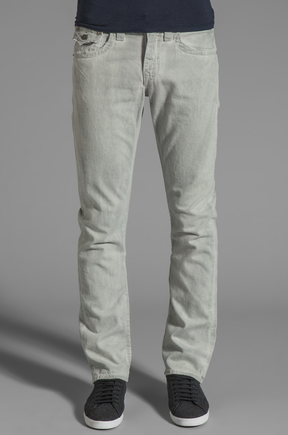 True Religion Ricky Oil Dye Straight Leg in Pebble Grey