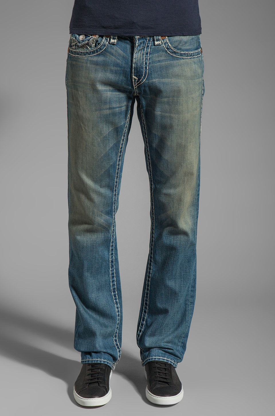 True Religion Ricky Super T Straight Leg in Devers Canyon