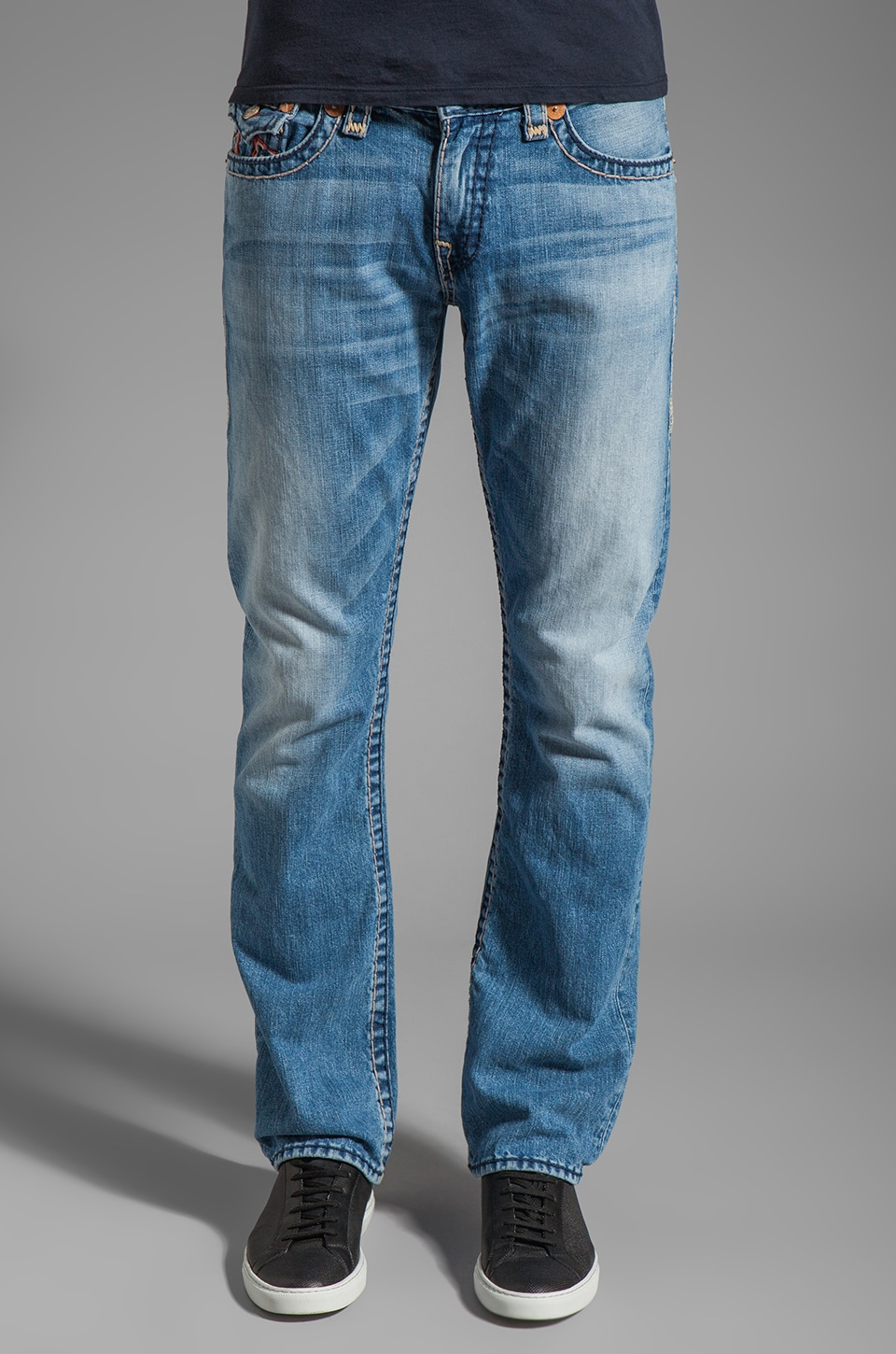 True Religion Ricky Super T Straight Leg in Sunset Pass