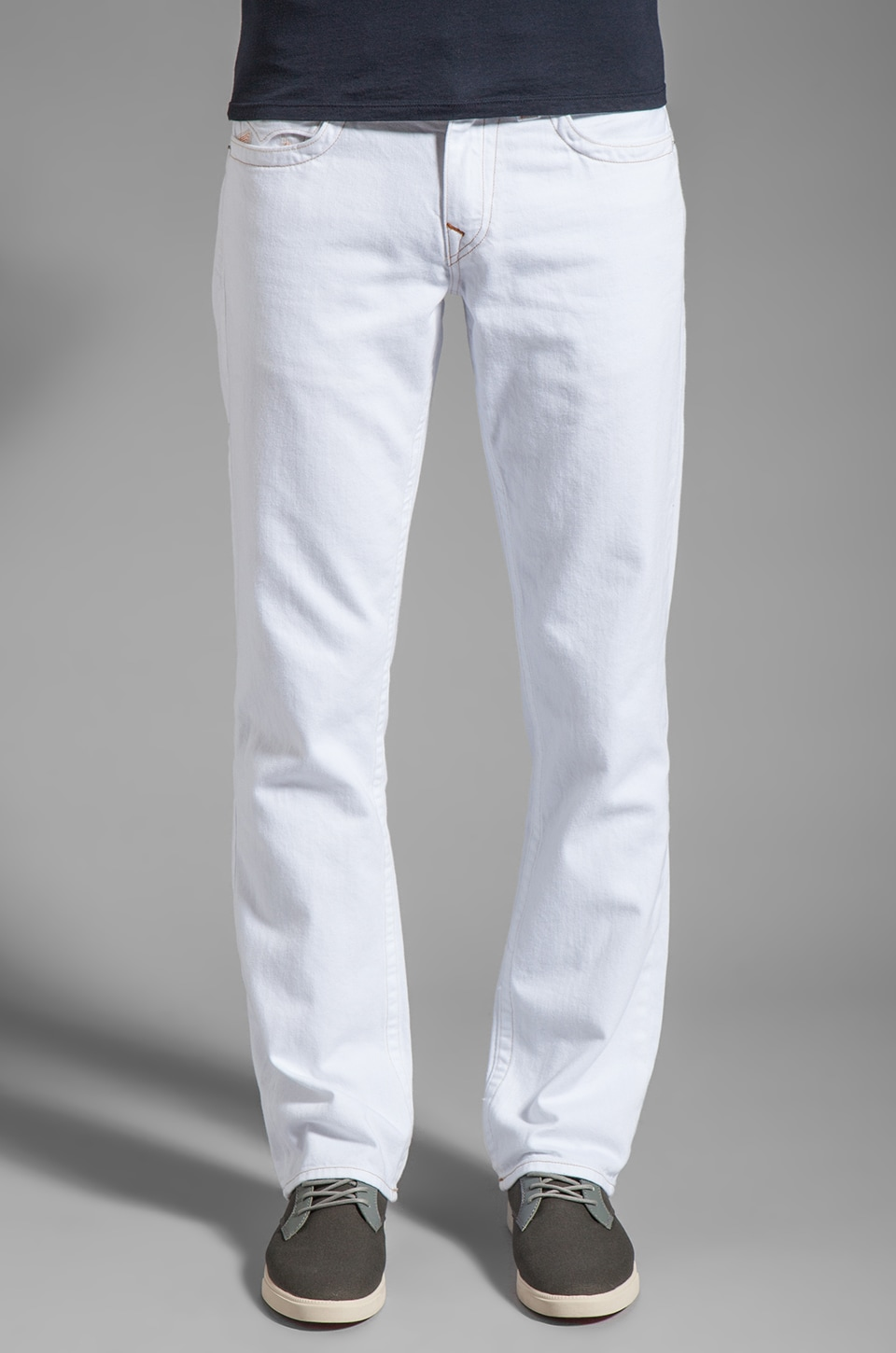 True Religion Ricky Straight Leg in Optic White