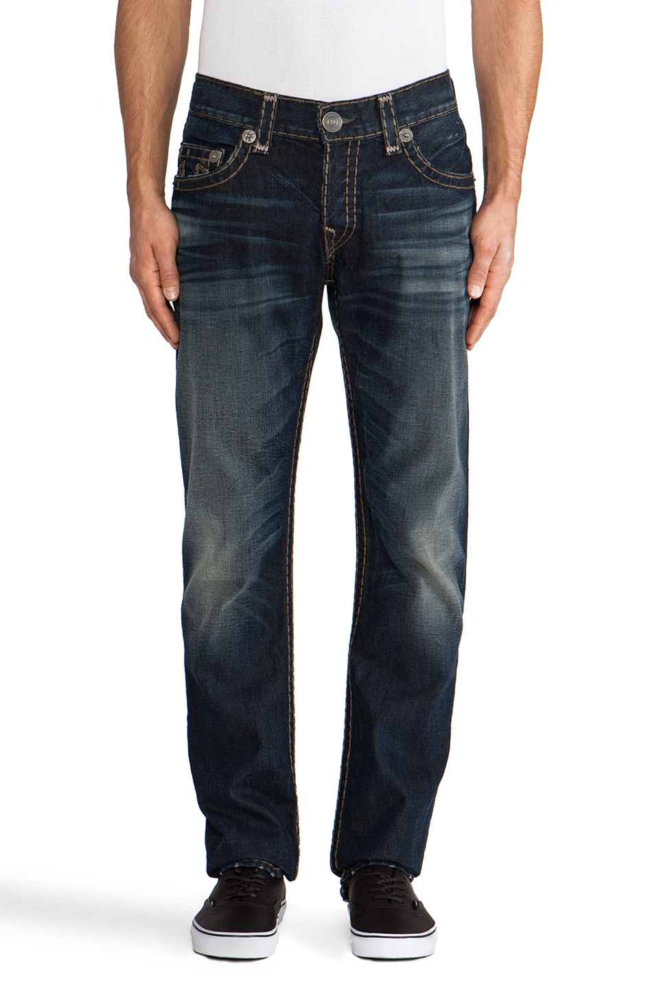 True Religion Geno Super T Slim Straight Leg in Breaking Grounds