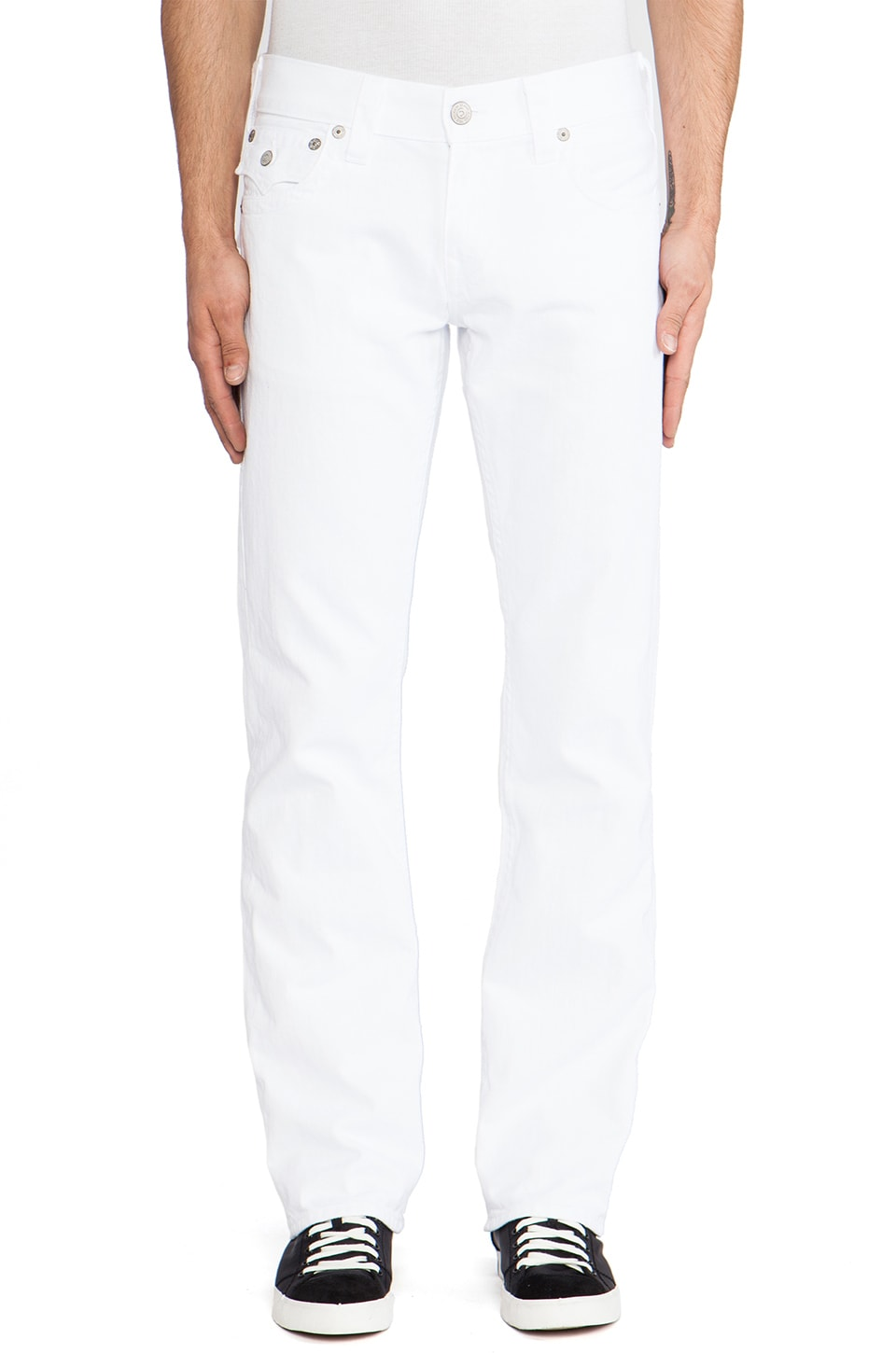 True Religion Ricky Straight in Optic White