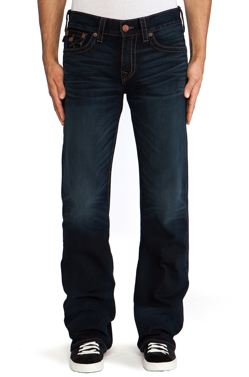 True Religion Billy Flap Pocket in Midnight Pass