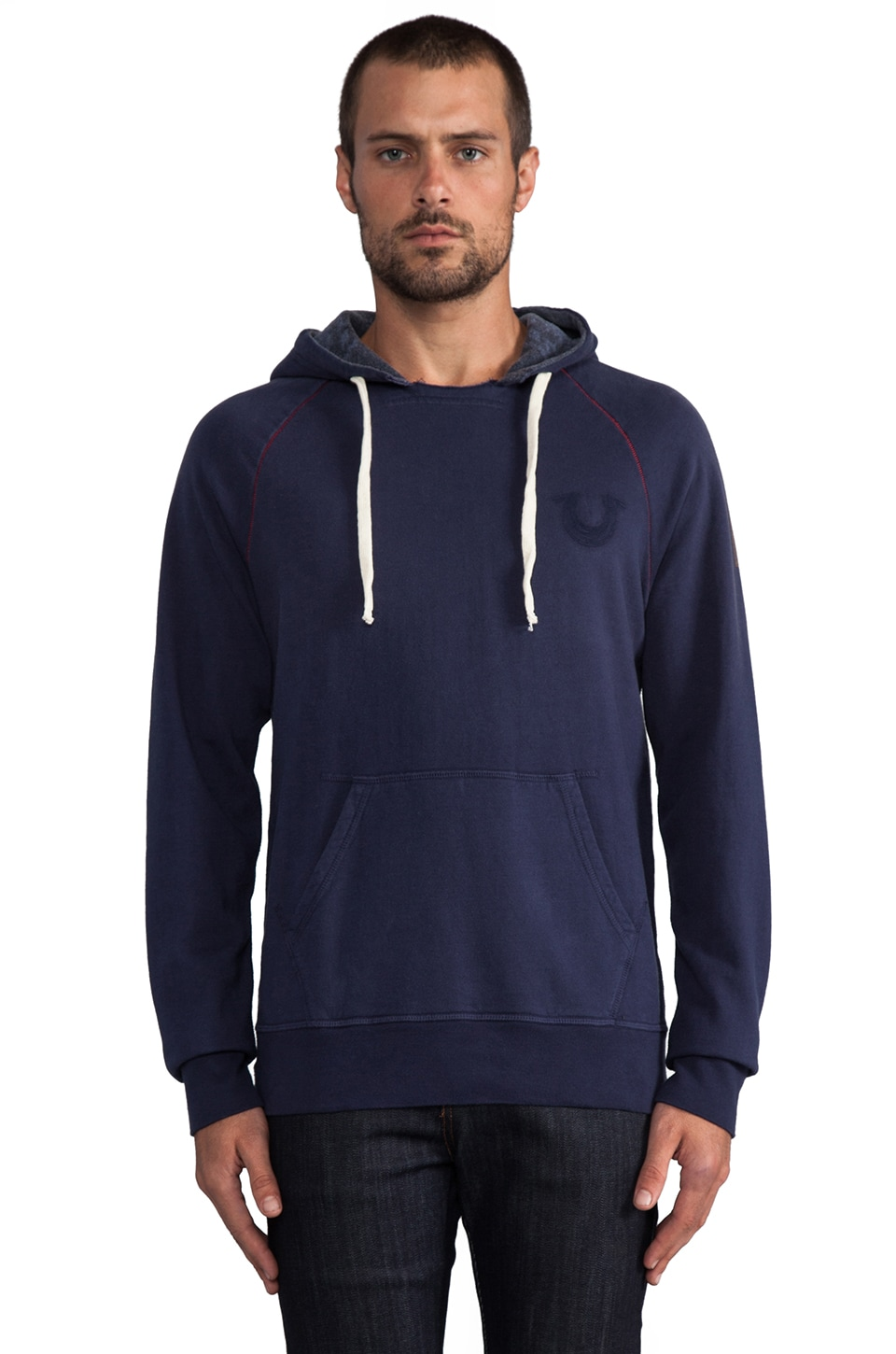 True Religion Branded Hoodie in Dark Navy