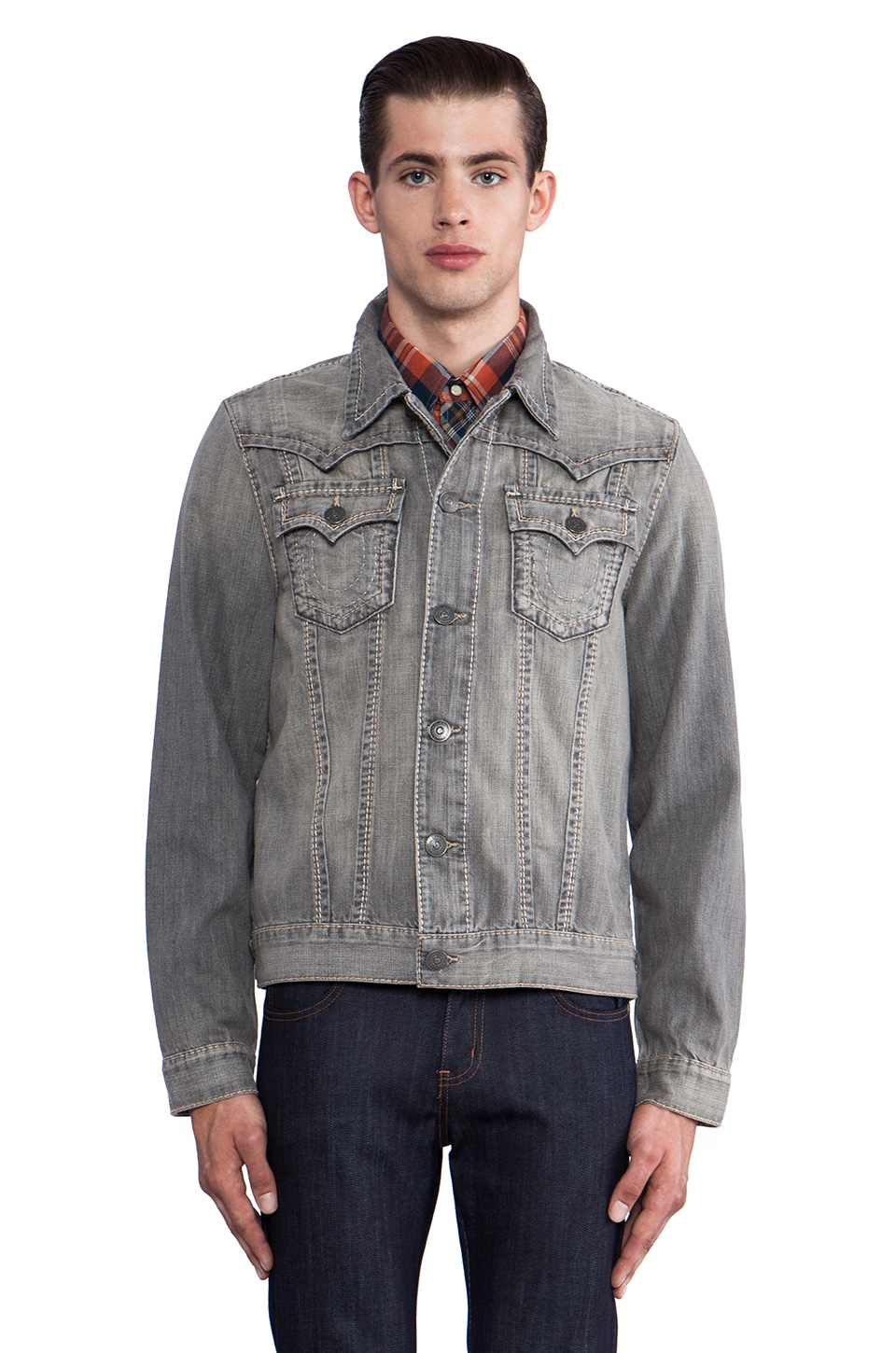 True Religion Jimmy Western Jacket in Arol Snow Trail