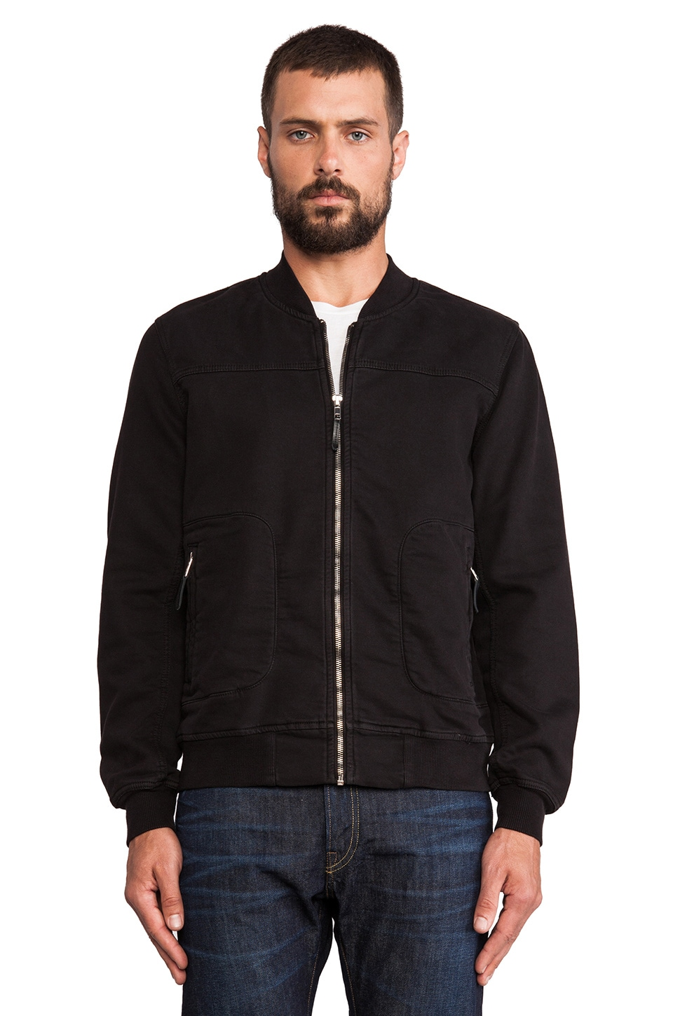 True Religion Runner Jacket in Raven