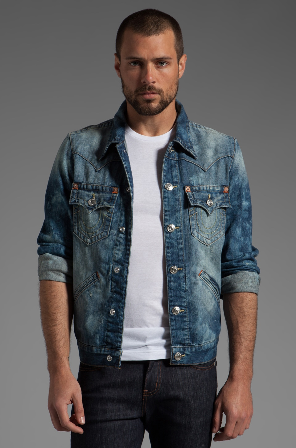 True Religion Johnny Western Jacket in Antelope