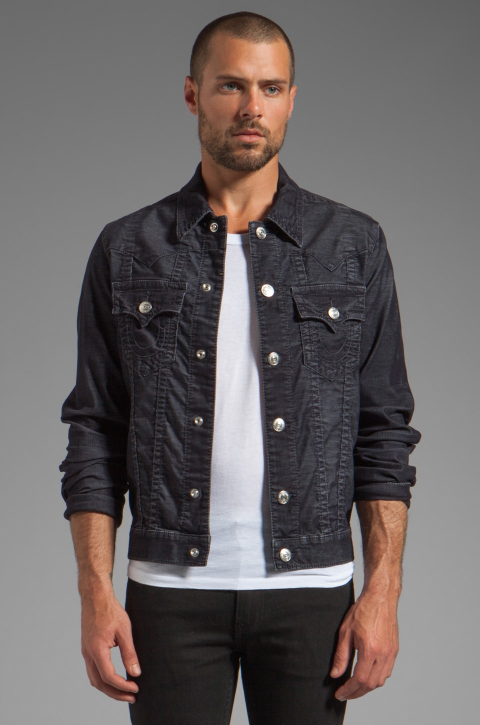 True Religion Jimmy Corduroy Jacket in Indigo