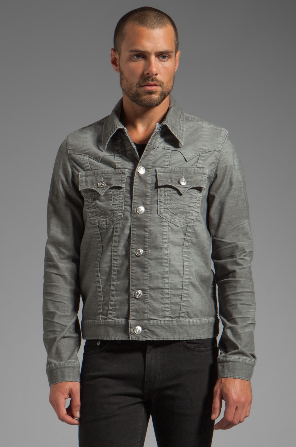 True Religion Jimmy Corduroy Jacket en Fumée