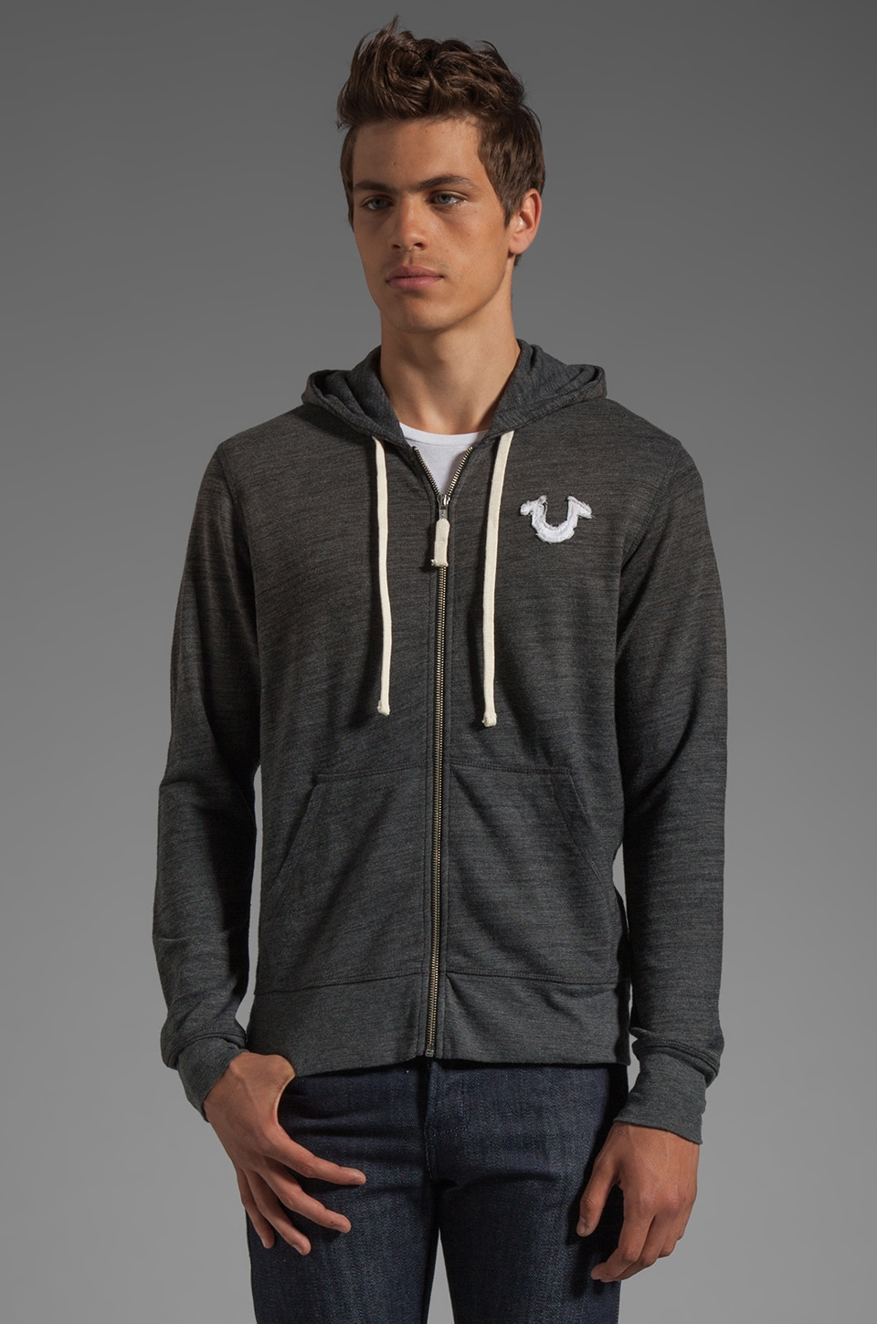 True Religion Echo Park Hoodie in Black