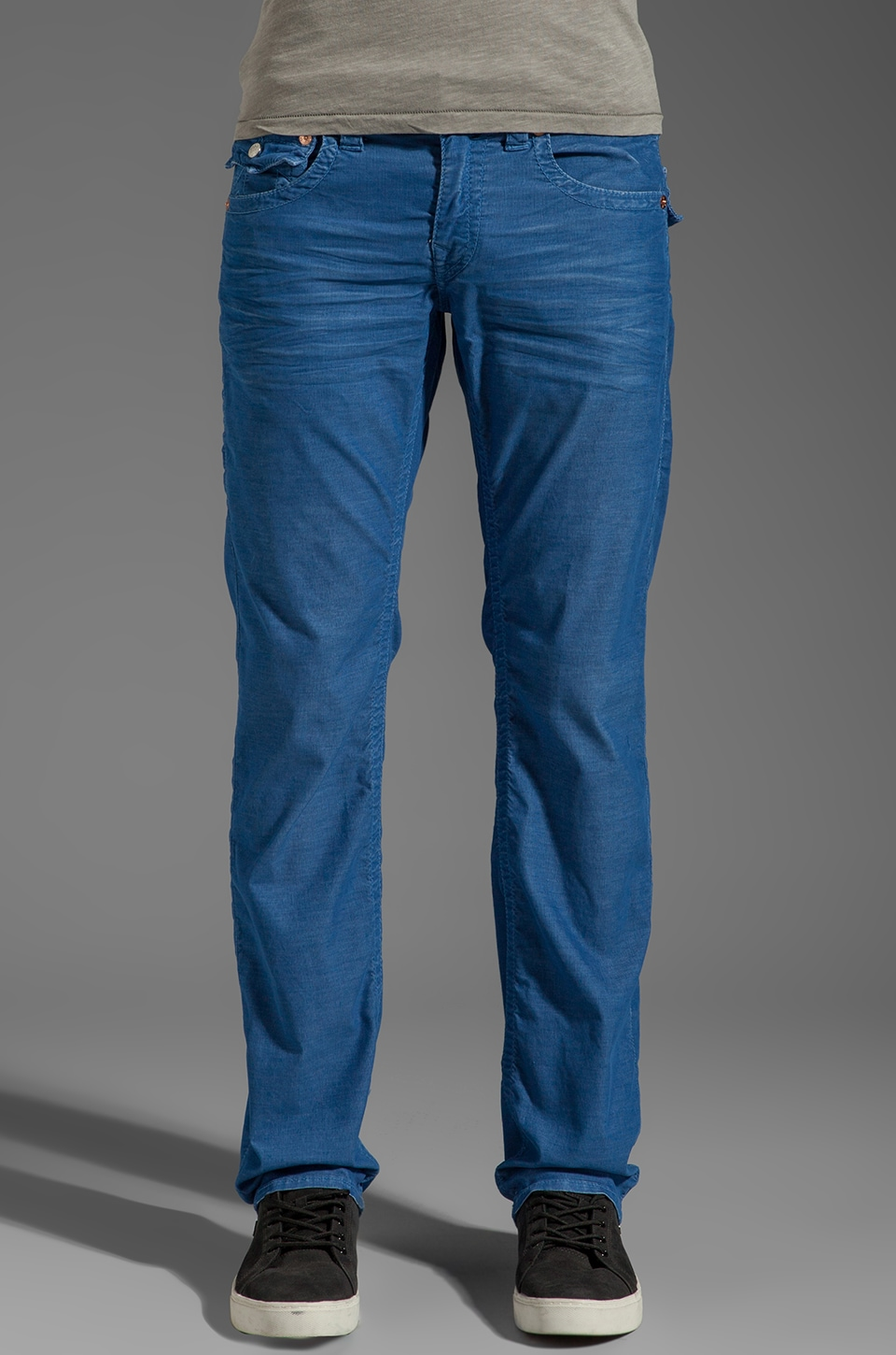 True Religion Ricky Straight Leg Cord in Royal Blue